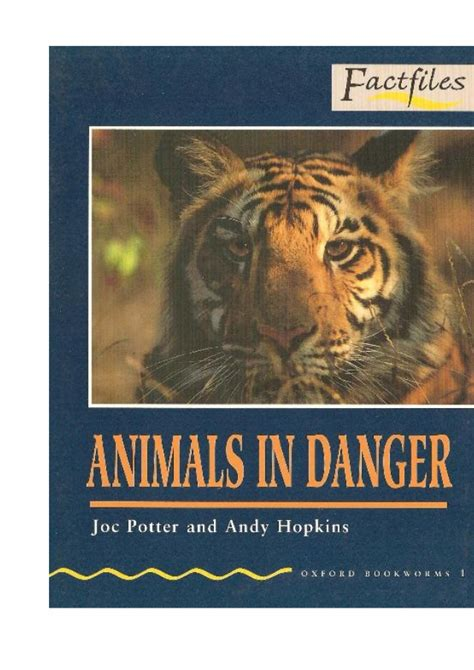 Animals in danger factfiles