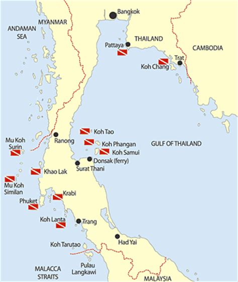 Thailand diving, Thailand scuba dive sites