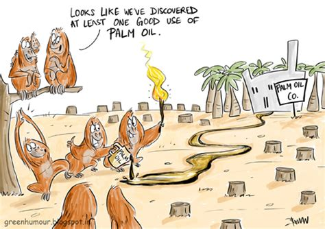 Green Humour: Orangutans and Palm Oil