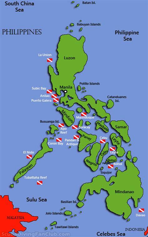 Buceo en las Filipinas información de buceo