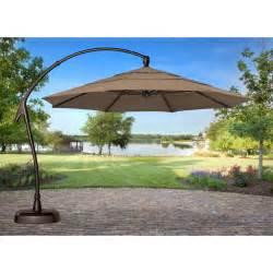 Treasure Garden 11 ft Cantilever Offset Patio Umbrella