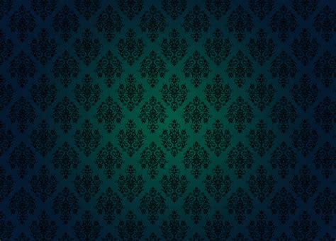 Damasc Pattern Green Desktop Wallpaper