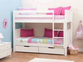 Stompa Classic Kids White Girls Bunk Bed, Stompa Bunk Beds