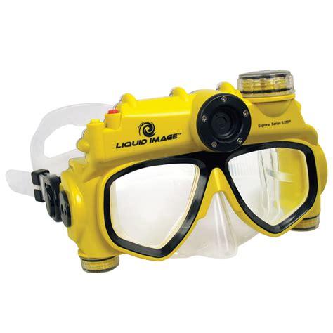 The Digital Camera Swim Mask Hammacher Schlemmer