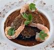 PFB #2 - Shrimp Mole with Black Bean and Corn Cakes