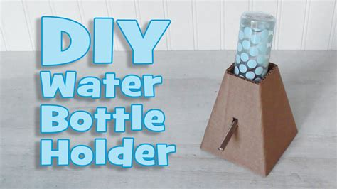 DIY Standing Water Bottle Holder by Hammy Time YouTube