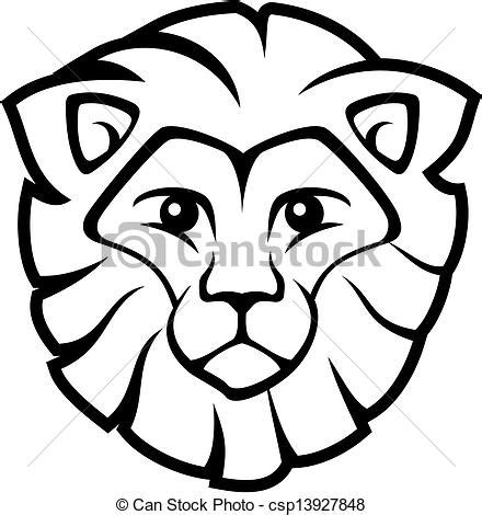 EPS Vector of lion face vector lion head isolated on