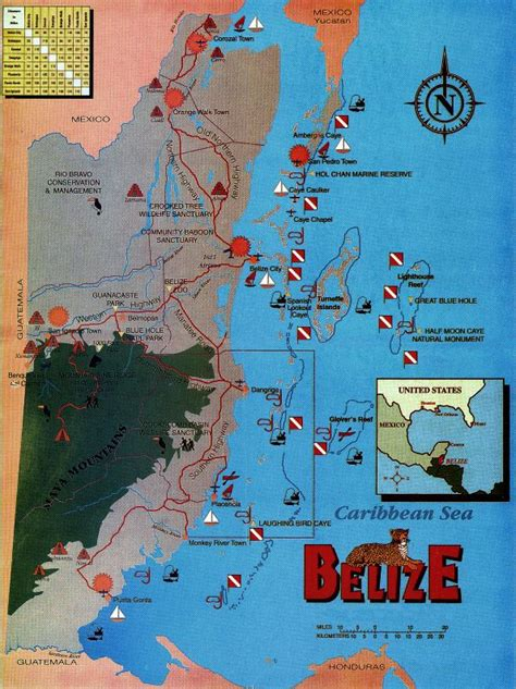 dive map INFO on Scuba Diving in Belize Pinterest Belize
