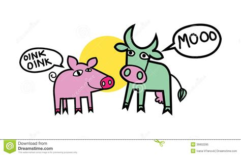 Cow And Pig Royalty Free Stock Photo Image: 36802295