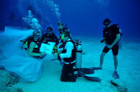Get Married Underwater Scuba Diving Scuba Diver Life