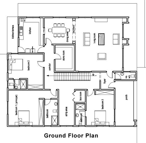 Ghana House Plans Chaley House Plan