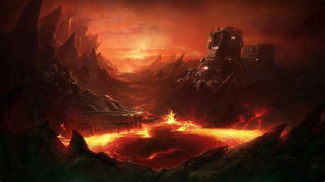 StarCraft Drawing Lava sci fi wallpaper 1920x1080