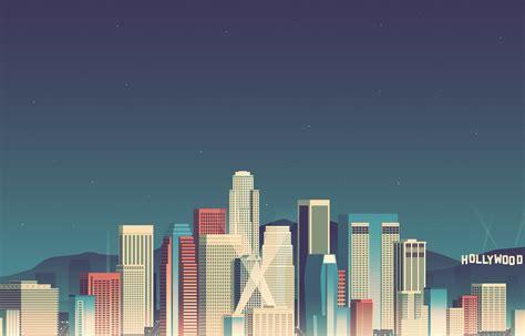 Hollywood Pixel City Wallp