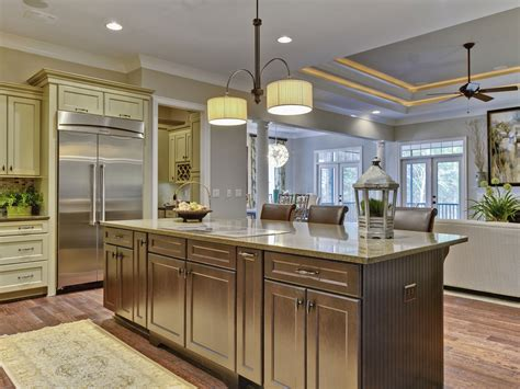 Nice Center Island Designs For Kitchens Ideas — Railing