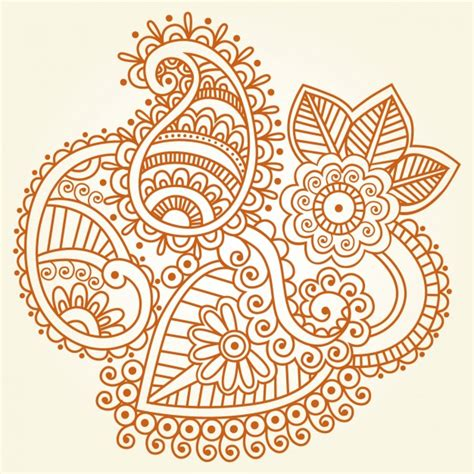 Indian Henna Ornament Vector Free Download