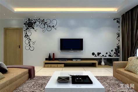 现代简约客厅电视墙装修图片 艾逸网