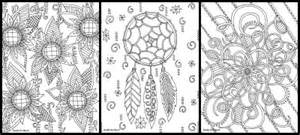 girly designs colouring pages