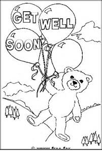 get well soon colouring page teddy bear miss you lots colouring page ...