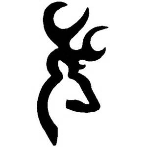 deer browning symbol Colouring Pages