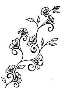 flowers on vine Colouring Pages