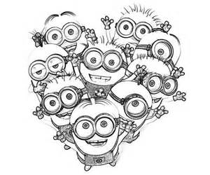 Love The Minion Coloring Page | Printable Coloring Pages