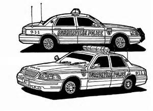 Police Car Coloring Page 2