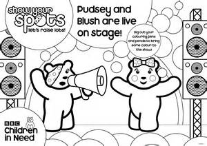 pudsey bear 2011 colouring pages