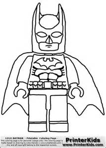 Lego Batman - Front View with Cape - Coloring Page Preview