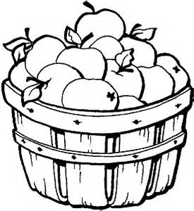 Fall Apples Coloring Pages Apple Picking