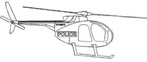 Coloring police helicopter picture