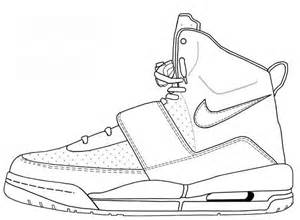 Nike Shoes Coloring Sheets http://niketalk.com/t/128879/nike-air-yeezy ...