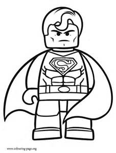 super man lego colouring pages