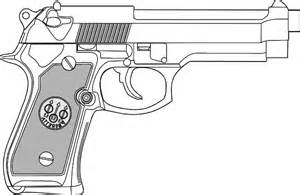 Pistol Outline Clip Art at Clker.com - vector clip art online, royalty ...