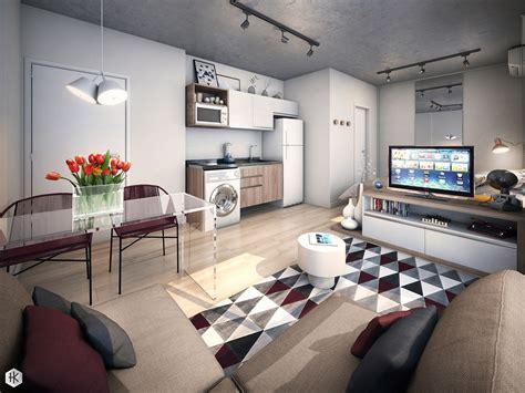 geometric studio apartment decor TheyDesignnet