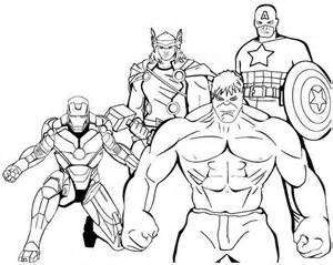superheroavengers colouring pages