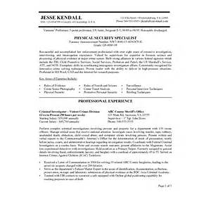 Federal Resume Format Template