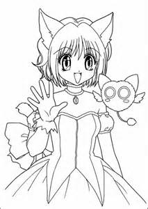 Anime-girl-coloring-1 | Free Coloring Page Site