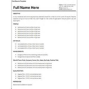 Sample Job Resume Template