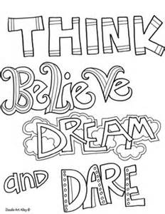 Coloring Pages Self Esteem Quotes