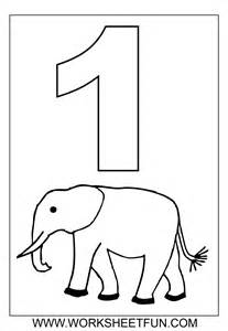 Number Coloring Pages 1 – 10 Worksheets / FREE Printable Worksheets ...