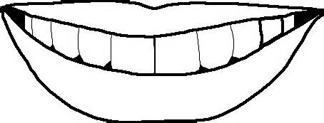 mouth colouring pages