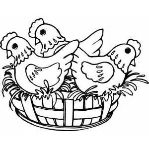 french hen Colouring Pages