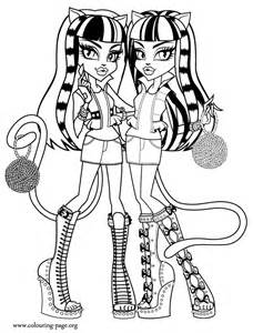 Free the cat monster high coloring pages
