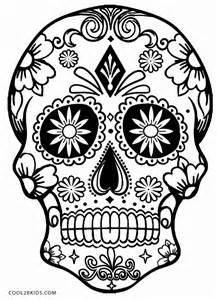 Simple Sugar Skull Coloring Pages