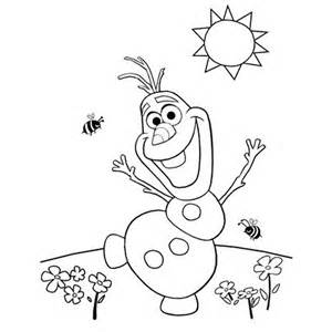 Frozen Olaf Coloring Pages Printable | Mewarnai