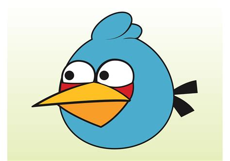 Blue Angry Bird Download Free Vector Art, Stock Graphics