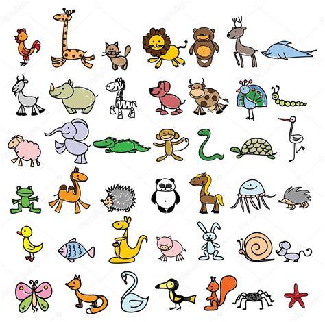 Drawings of different animals — Stock Vector © virinaflora