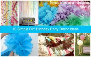 Someday Crafts: Simple DIY Party Decor Ideas
