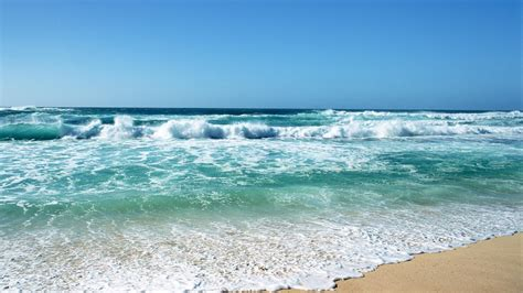 Beautiful Blue Stormy Sea Of Beach Desktop Backgrounds