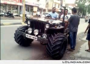 Modified mahindra jeep LOL Indian Funny Indian Pics
